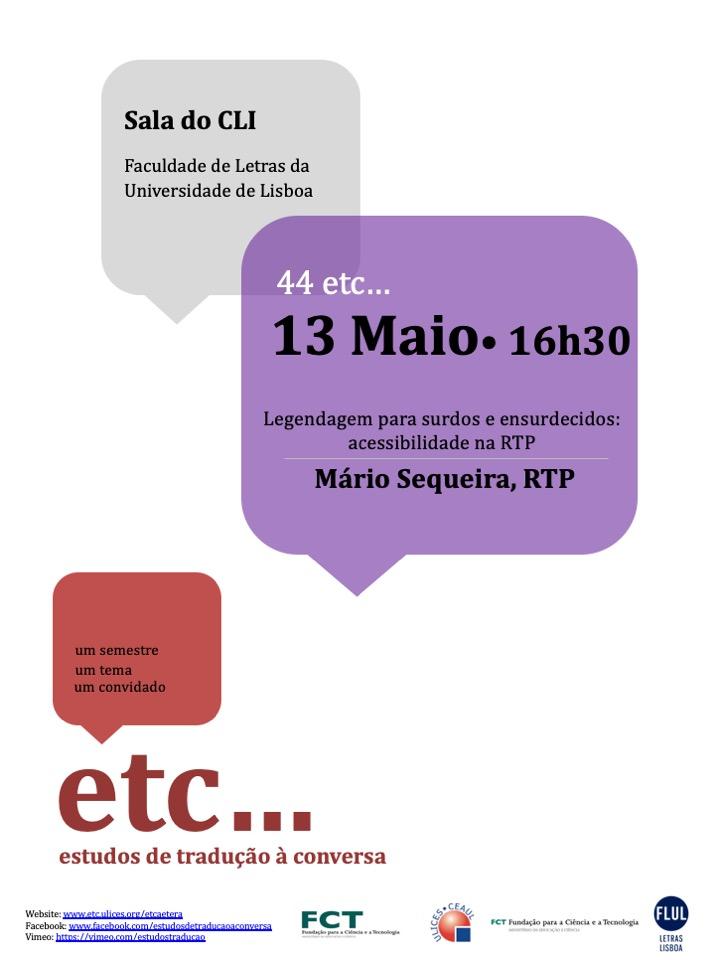 44etc(13Maio2019) Mário Sequeira RTP